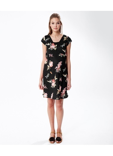 Çiçek Desenli Hamile Elbisesi-Hooyo
